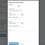 Edit Song Information