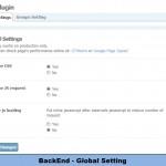 BackEnd - Global Setting