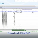 Firebug Result-Using Minify