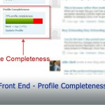 Front End - Profile Completeness