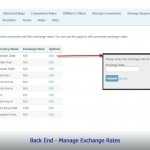 Back End - Manage Exchange Rates