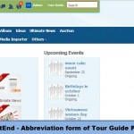 FrontEnd - Abbreviation form of Tour Guide Panel