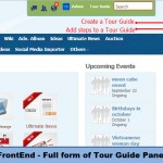 FrontEnd - Full form of Tour Guide Panel