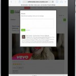 Front End - Video Details - Share Video (Ipad)