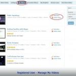 Registered User - Manage My Videos