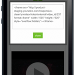 Front End - Video Details - HTML Code (Iphone)