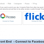 Front End - Connect to Facebook
