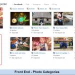 Front End - Facebook Photos Categories