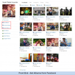 Front End - Get Albums from Facebook