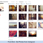 Front End - Get Photos from Instagram
