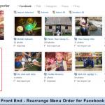 Front End - Rearrange Menu Order for Facebook
