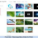 Front End - Rearrange Menu Order for Flickr