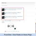 Front End - View Feeds on Home Page