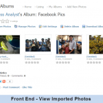 Front End - View Imported Photos
