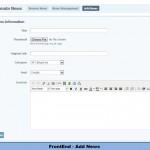 FrontEnd - Add News