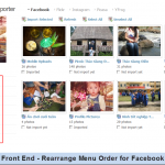Front End - Rearrange Menu Order for Facebook