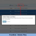 FrontEnd - Delete Files