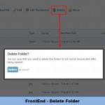 FrontEnd - Delete Folder