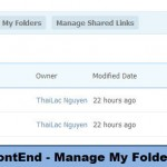 FrontEnd - Manage My Folders
