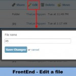 FrontEnd - Edit Files