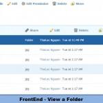 FrontEnd - View a folder