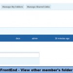 FrontEnd - View other member's folder