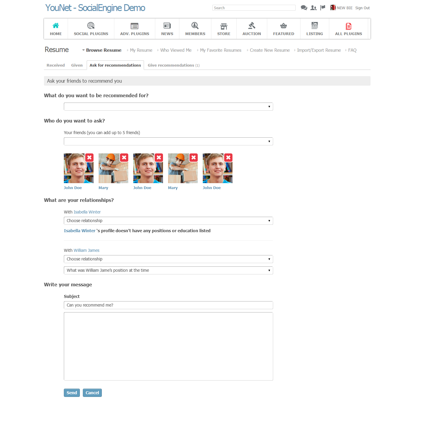SocialEngine   YouNetCo  Product Recommendation Template