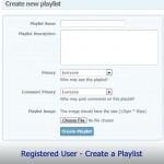 Registered User - Create a Playlist